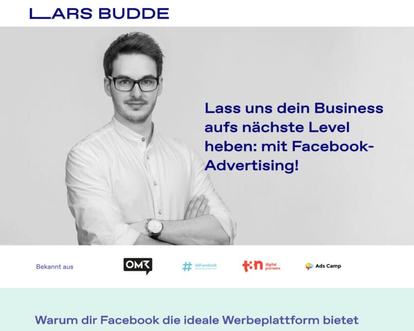 Screenshot of larsbudde.de