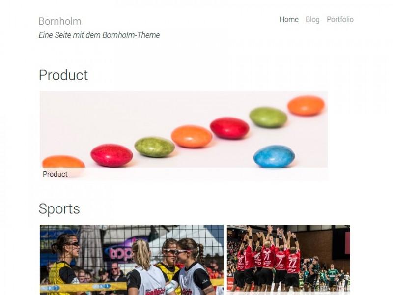 Ansicht der alternativen Startseite des WordPress-Themes. (Screenshot: Eigene Installation)