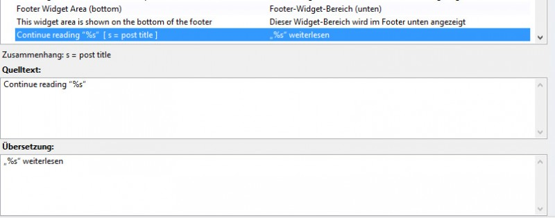 Übersetzung mit Kontext in Poedit. (Screenshot: Poedit)